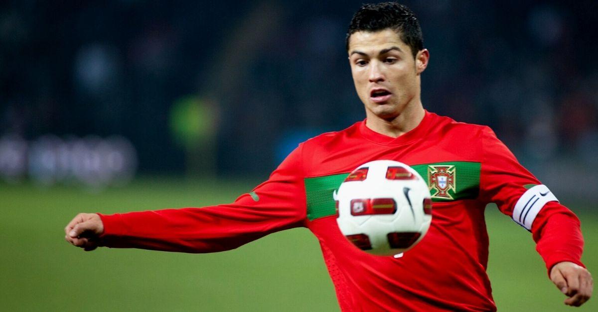 Christiano Ronaldo on the football field